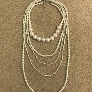 Jewelry - Layered Faux Pearl Chunky Necklace
